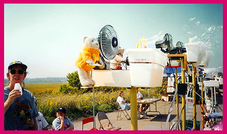 A Bear-manned battery of bubble-makers in Sandwich, Massachusetts, 1998